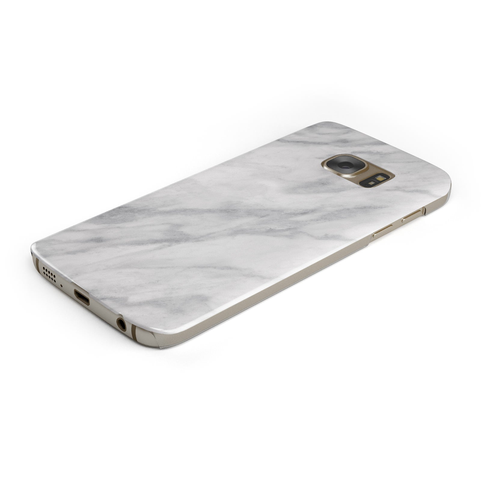Faux Marble Effect Italian Samsung Galaxy Case Bottom Cutout