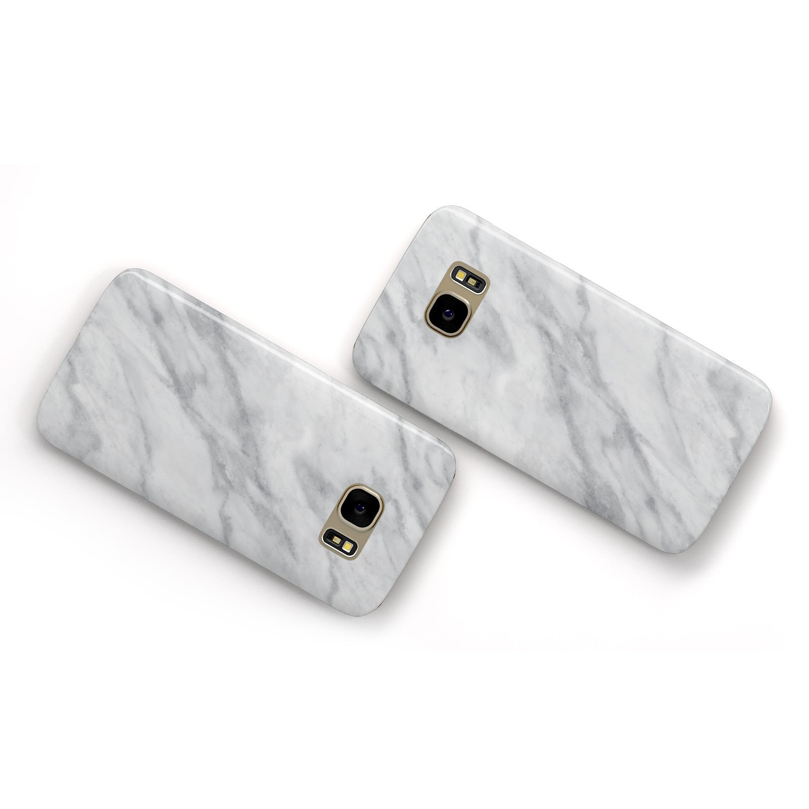 Faux Marble Effect Italian Samsung Galaxy Case Flat Overview