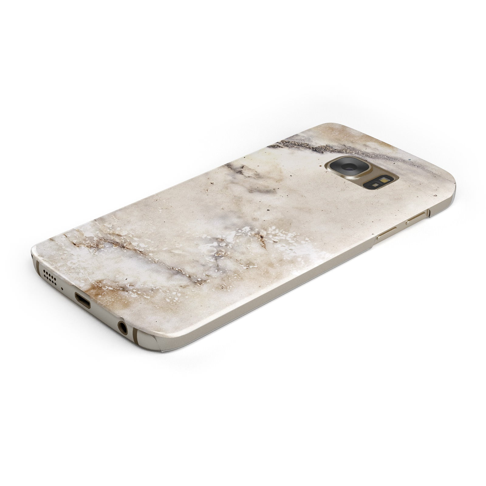 Faux Marble Effect Print Samsung Galaxy Case Bottom Cutout