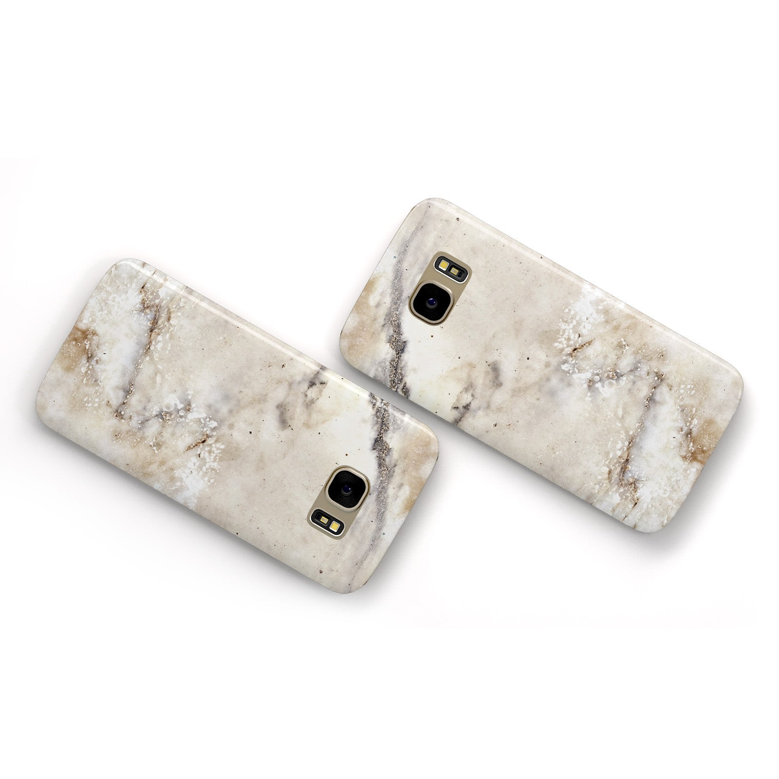 Faux Marble Effect Print Samsung Galaxy Case Flat Overview