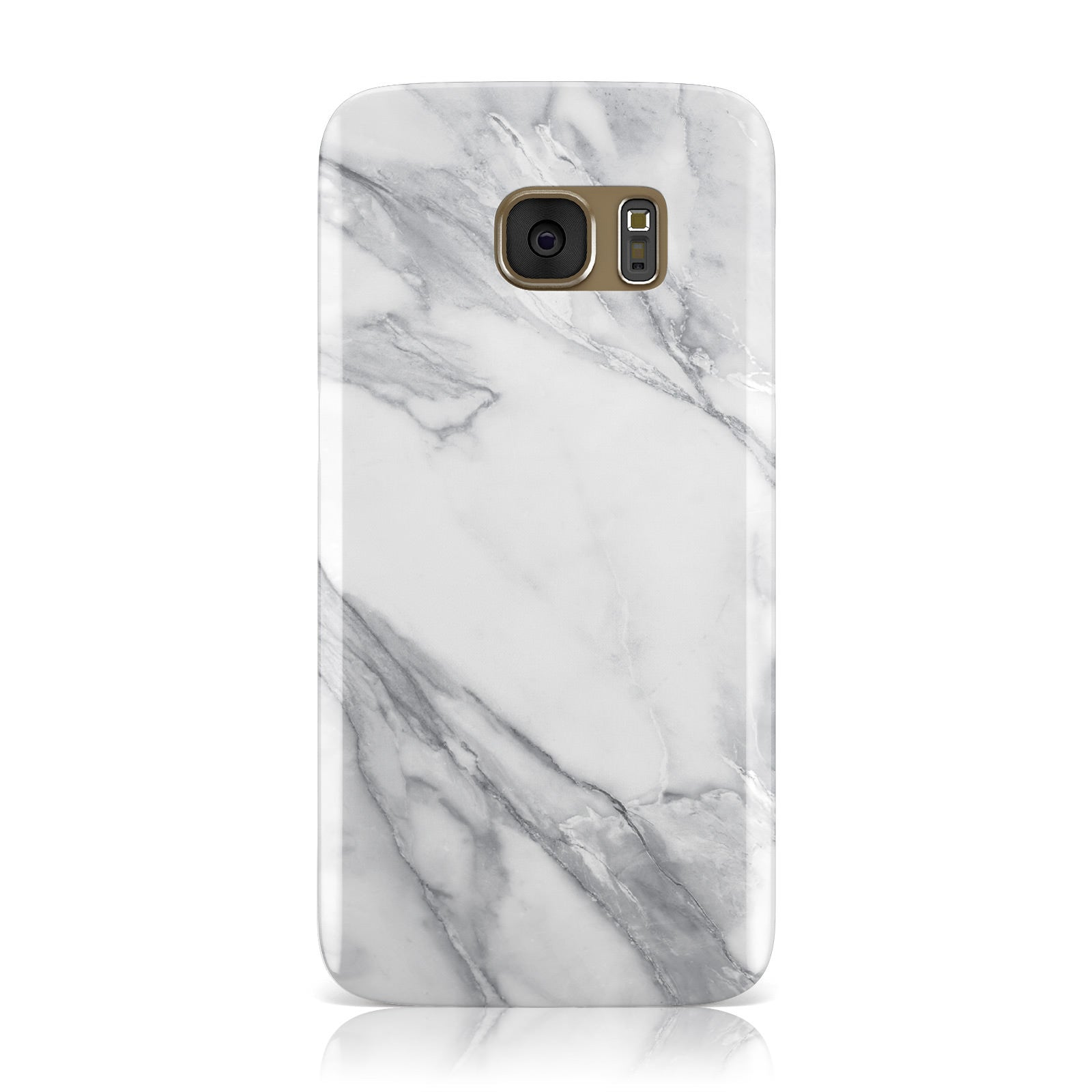Faux Marble Effect White Grey Samsung Galaxy Case