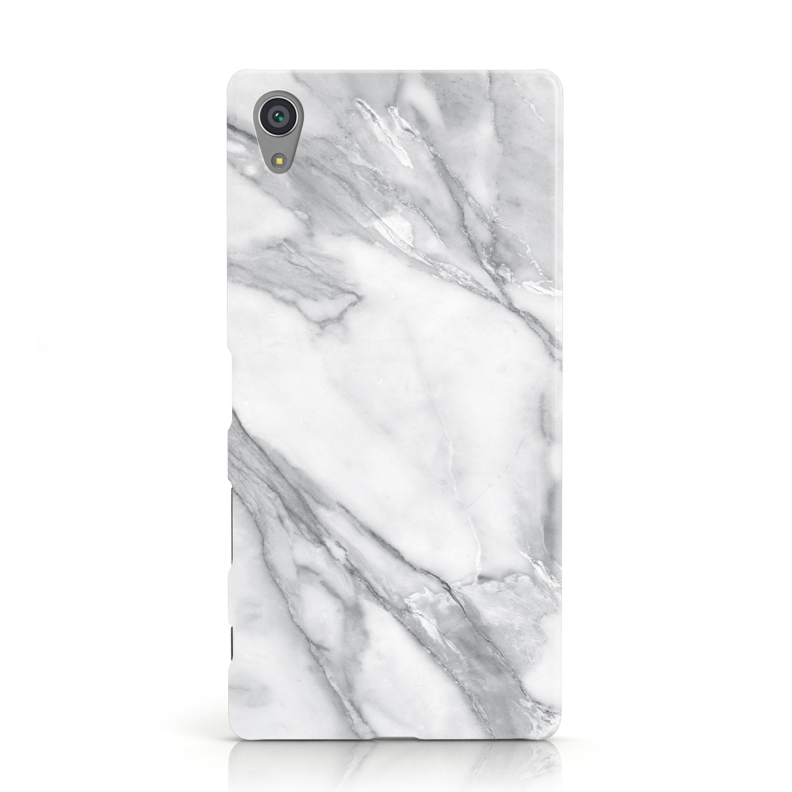 Faux Marble Effect White Grey Sony Xperia Case