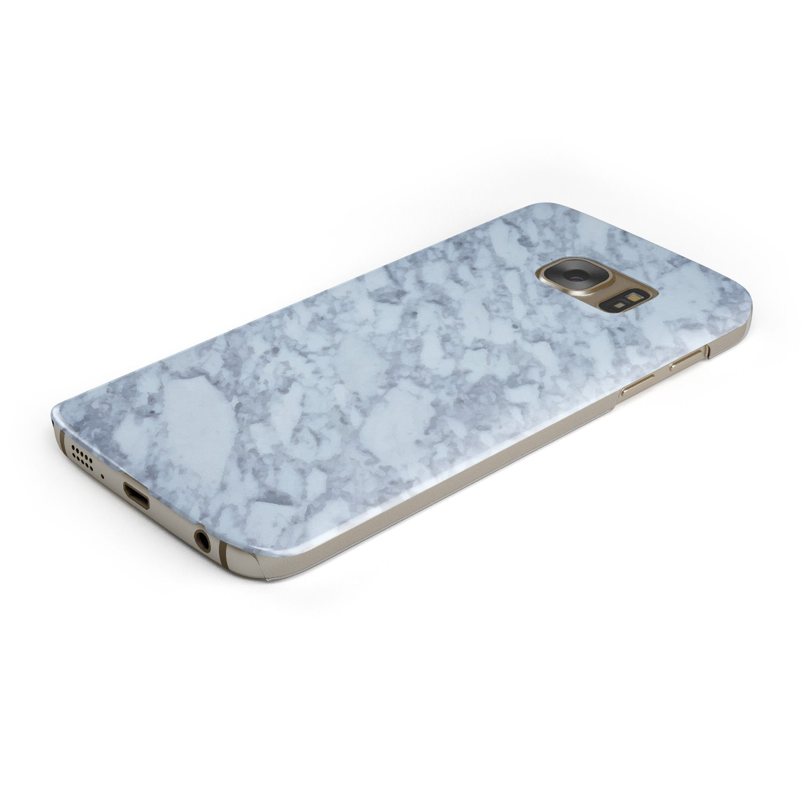 Faux Marble Grey 2 Samsung Galaxy Case Bottom Cutout