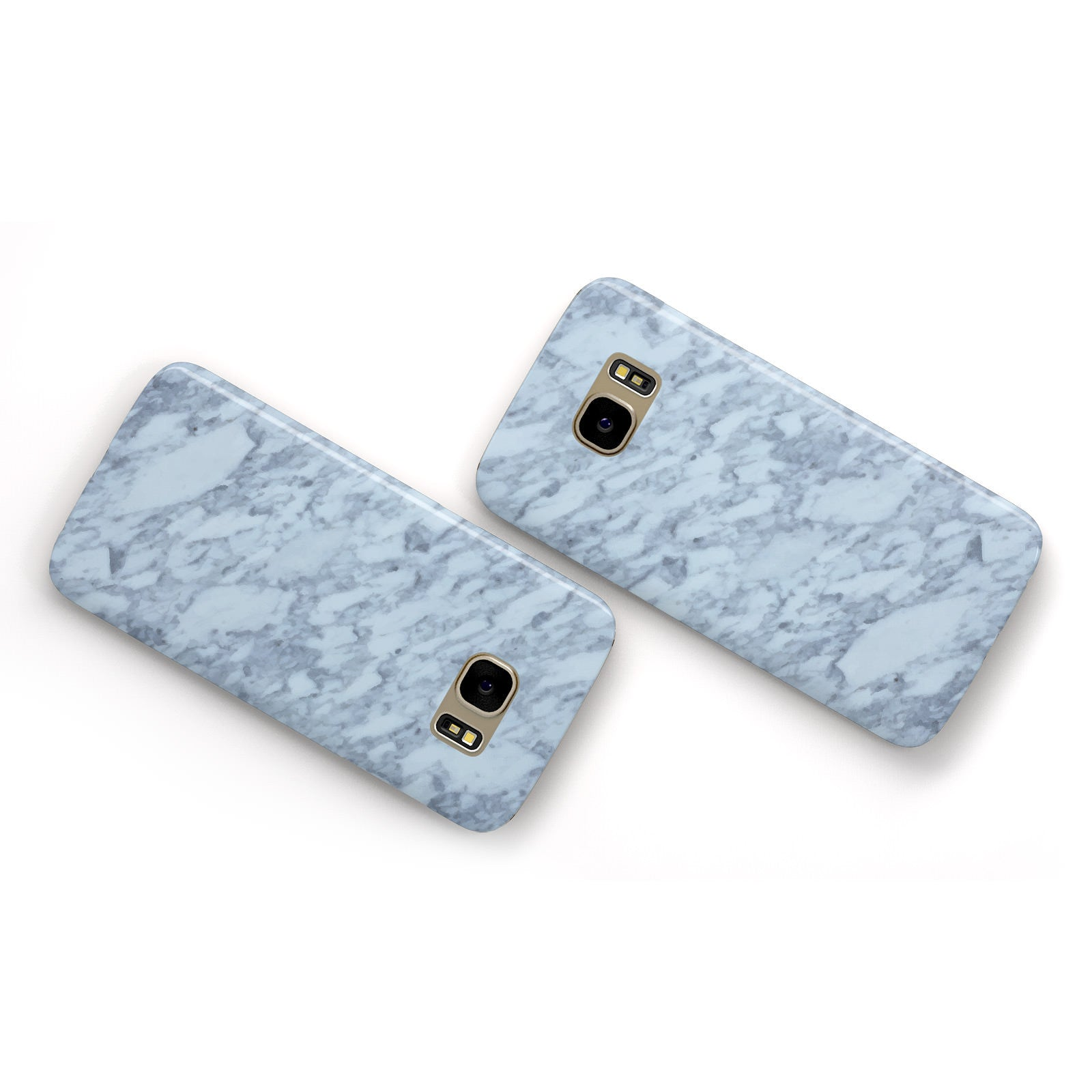 Faux Marble Grey 2 Samsung Galaxy Case Flat Overview