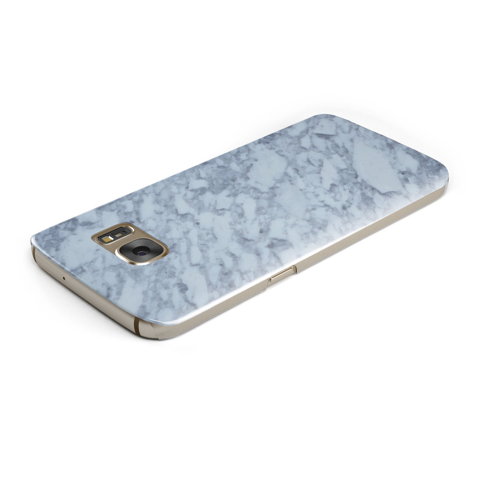Faux Marble Grey 2 Samsung Galaxy Case Top Cutout