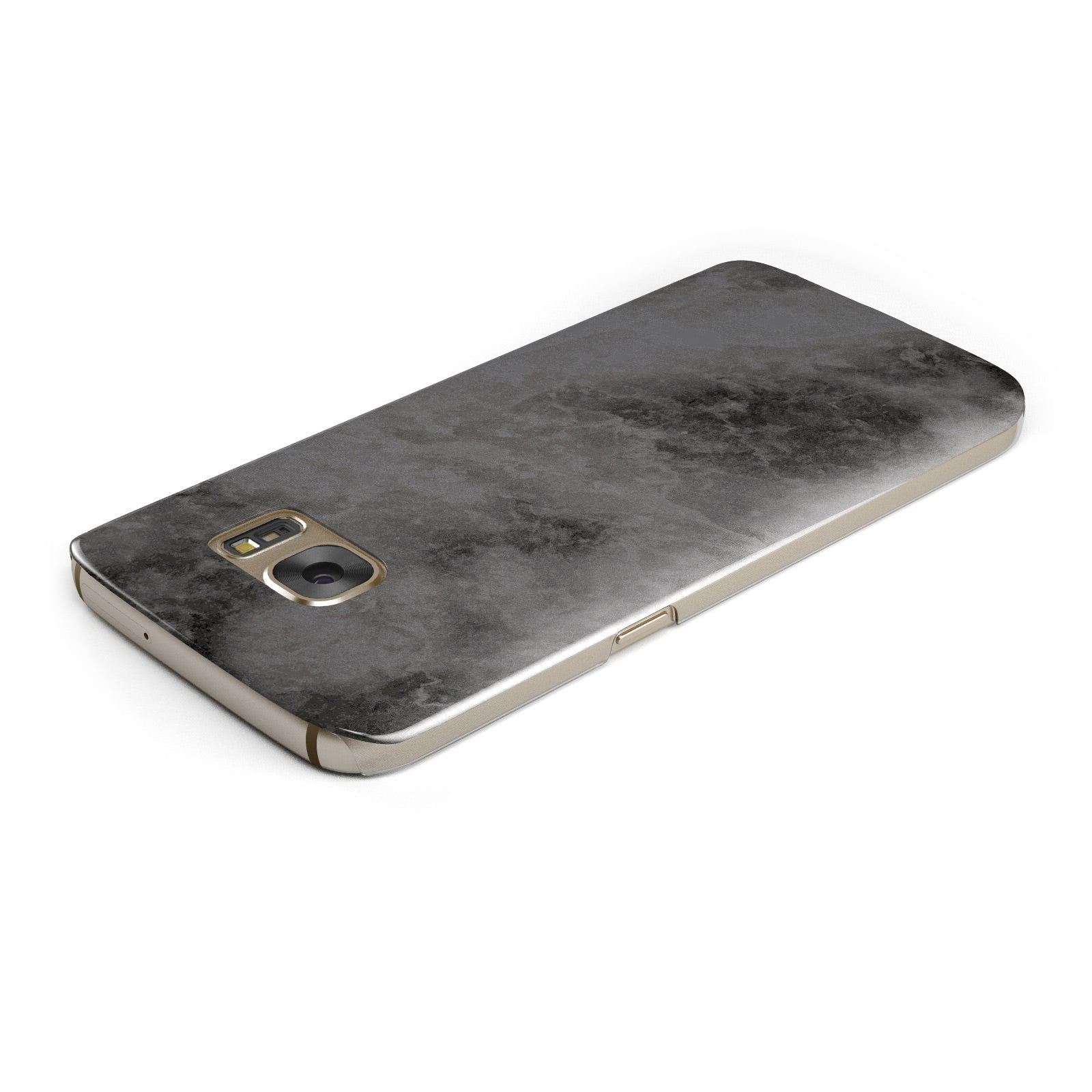 Faux Marble Grey Black Samsung Galaxy Case Top Cutout