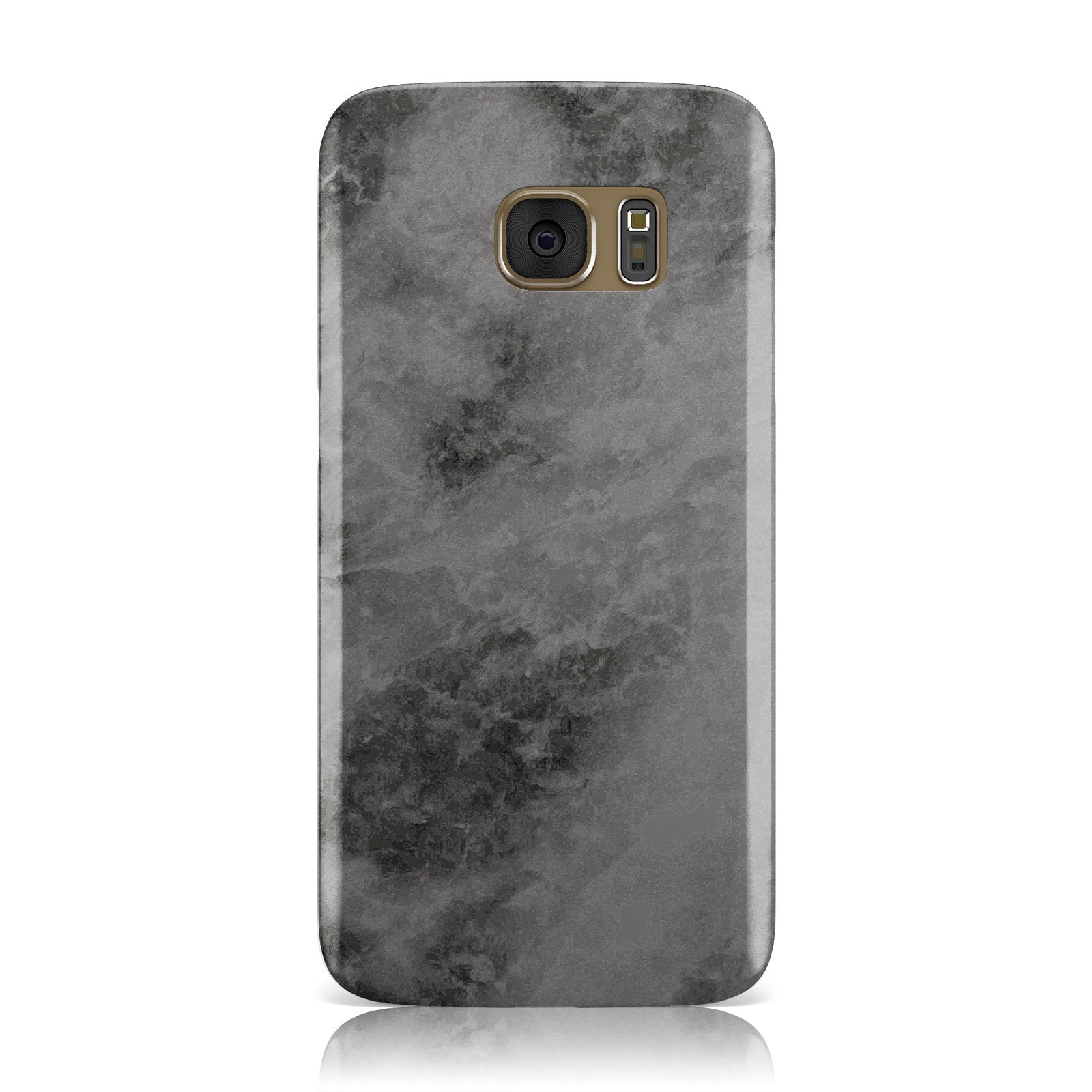 Faux Marble Grey Black Samsung Galaxy Case