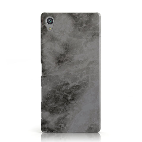 Faux Marble Grey Black Sony Xperia Case