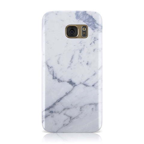 Faux Marble Grey White Samsung Galaxy Case