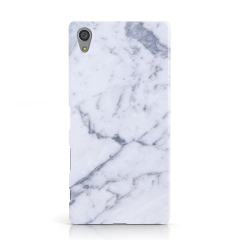 Faux Marble Grey White Sony Xperia Case