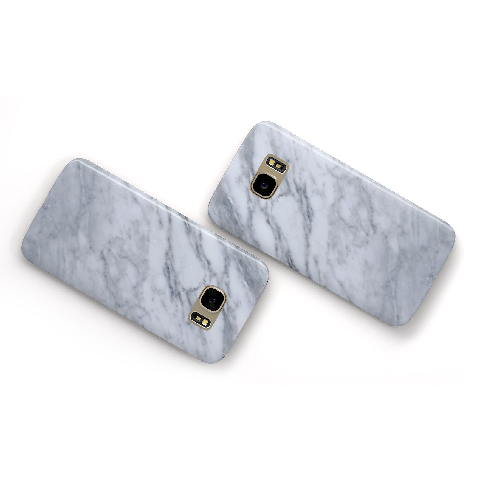 Faux Marble Italian Grey Samsung Galaxy Case Flat Overview