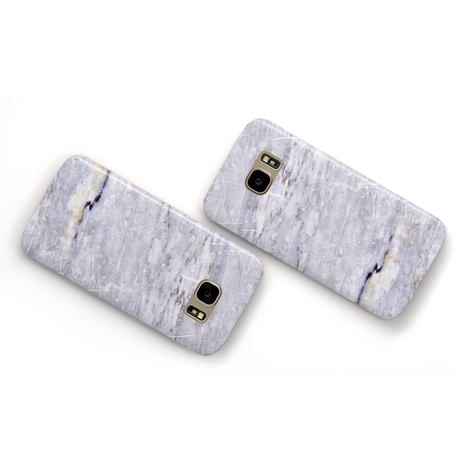 Faux Marble Mid Grey Samsung Galaxy Case Flat Overview