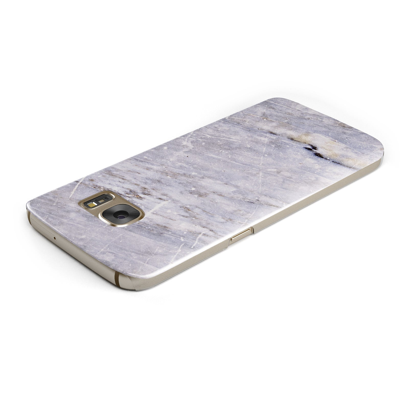 Faux Marble Mid Grey Samsung Galaxy Case Top Cutout
