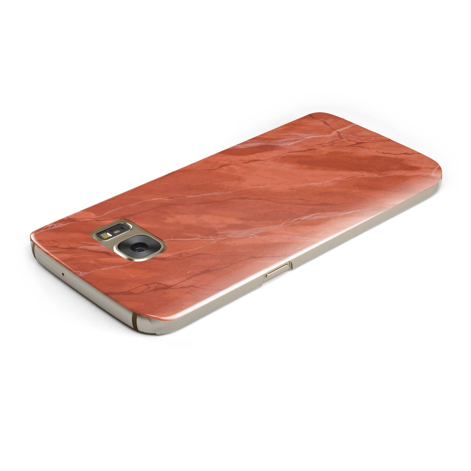 Faux Marble Red Orange Samsung Galaxy Case Top Cutout