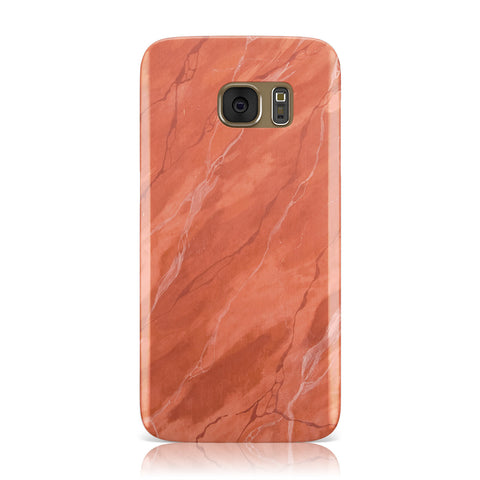 Faux Marble Red Orange Samsung Galaxy Case