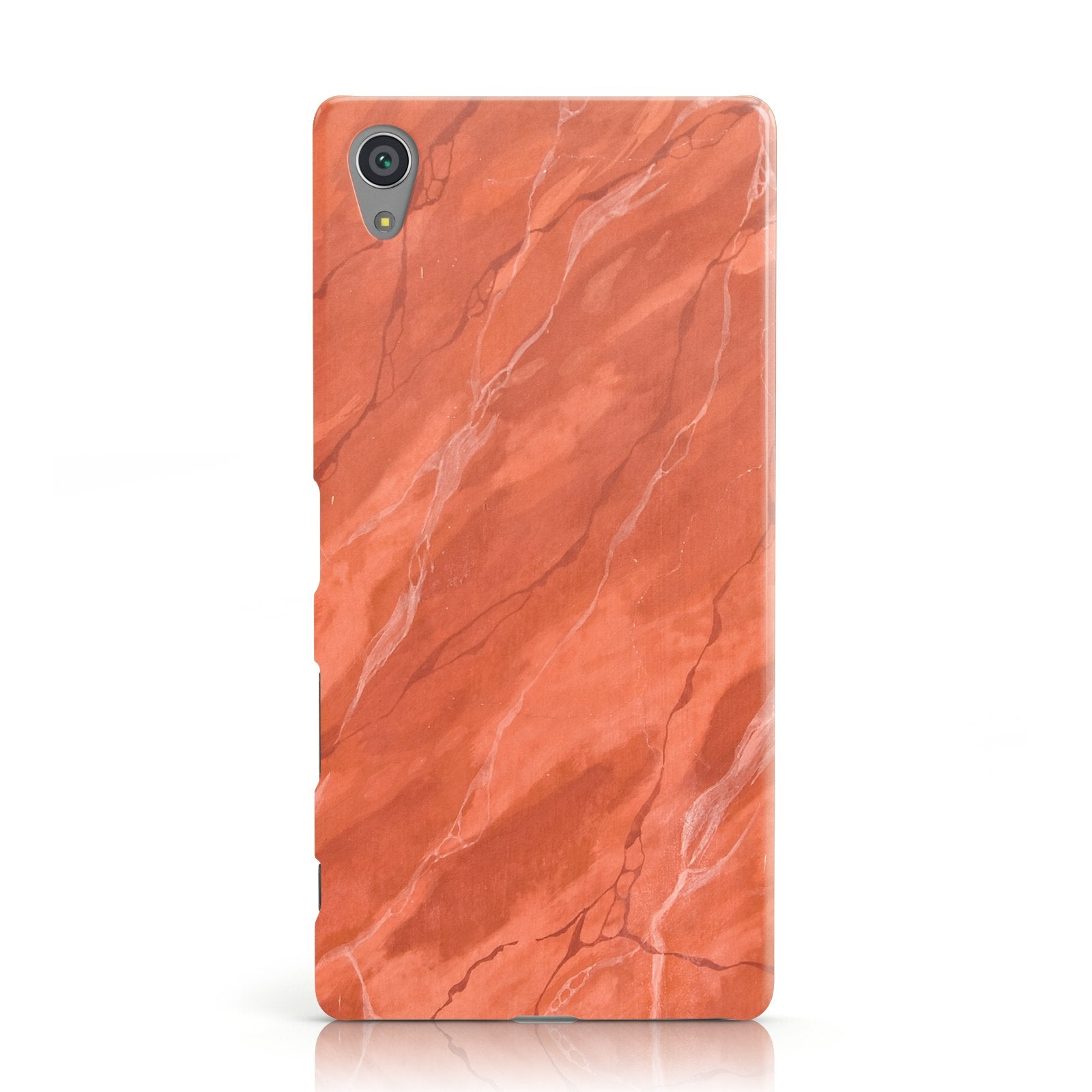 Faux Marble Red Orange Sony Xperia Case