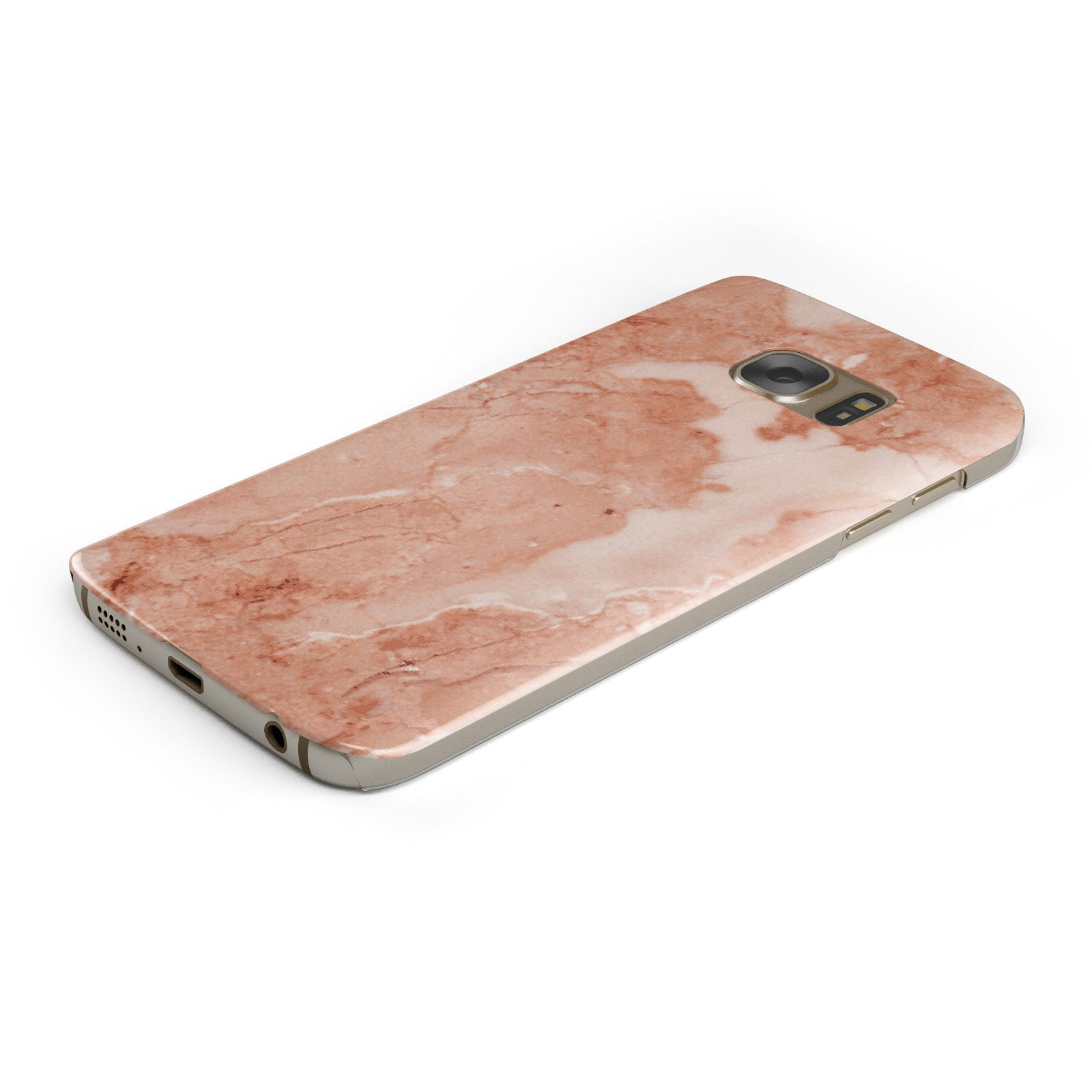 Faux Marble Red Samsung Galaxy Case Bottom Cutout