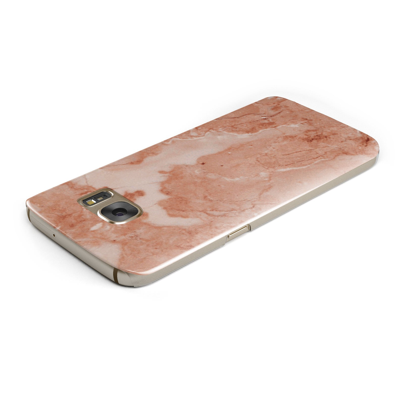 Faux Marble Red Samsung Galaxy Case Top Cutout