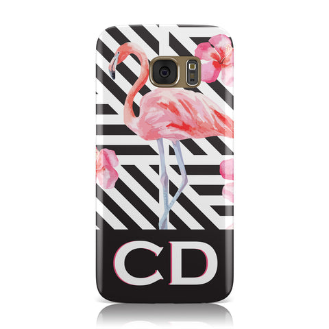 Flamingo Black Geometric Samsung Galaxy Case