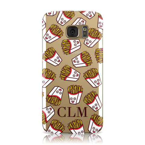Personalised Fries Initials Clear Samsung Galaxy Case