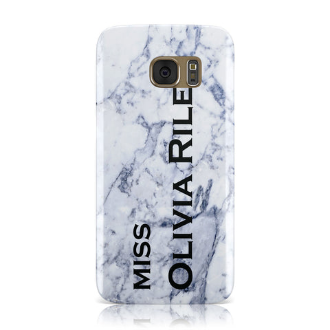 Full Name Grey Marble Samsung Galaxy Case