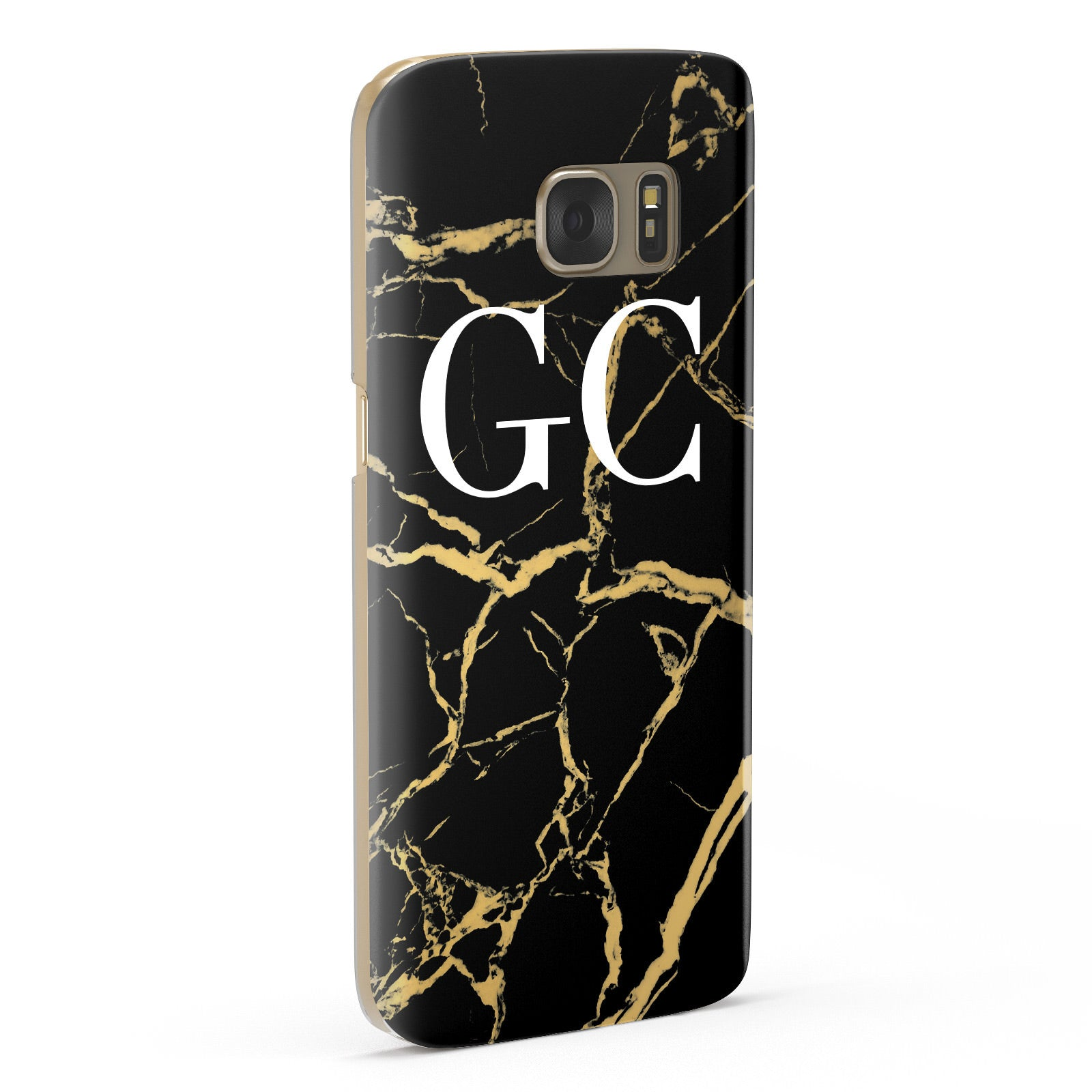 Personalised Gold Black Marble Monogram Samsung Galaxy Case Fourty Five Degrees