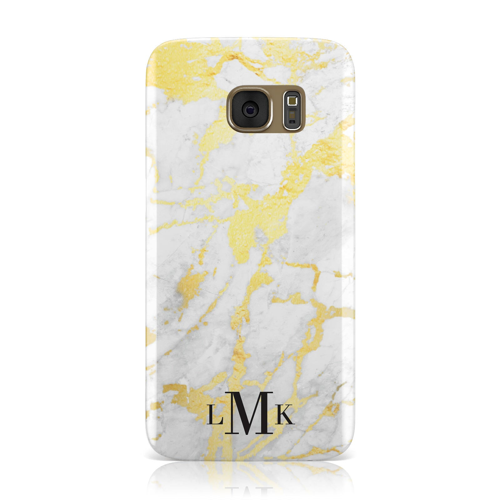 Gold Marble Initials Customised Samsung Galaxy Case
