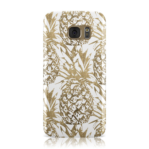 Gold Pineapple Fruit Samsung Galaxy Case