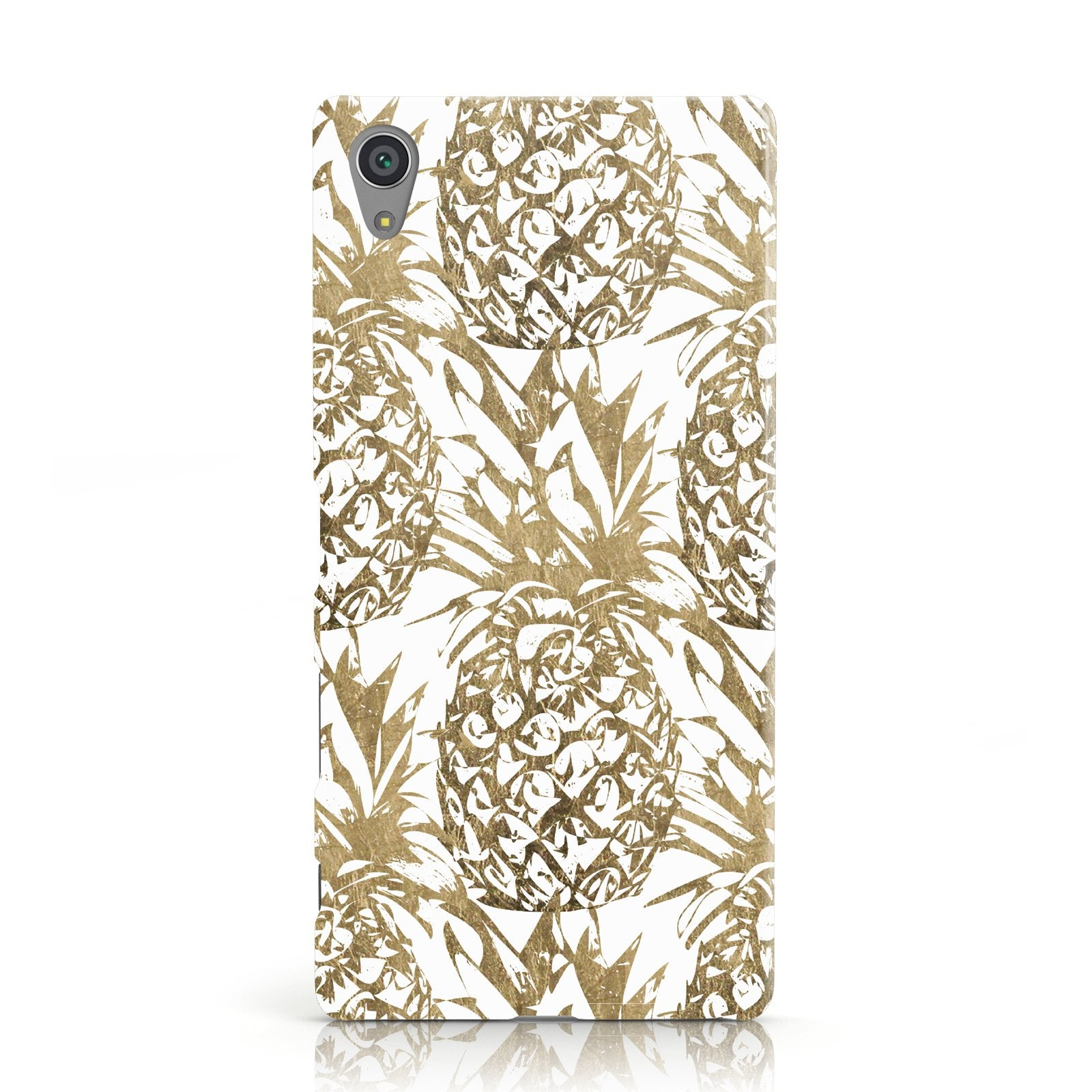 Gold Pineapple Fruit Sony Xperia Case