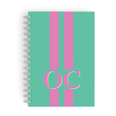 Green Personalised Initials A5 Hardcover Notebook