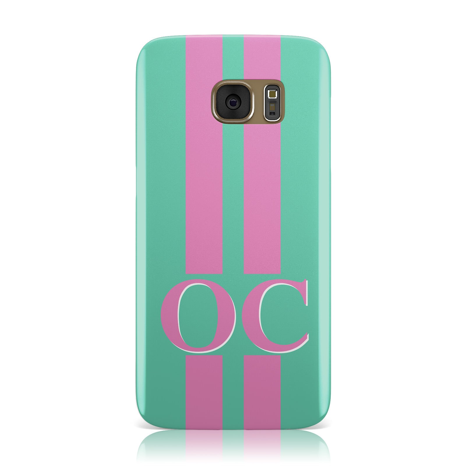 Green Personalised Initials Samsung Galaxy Case