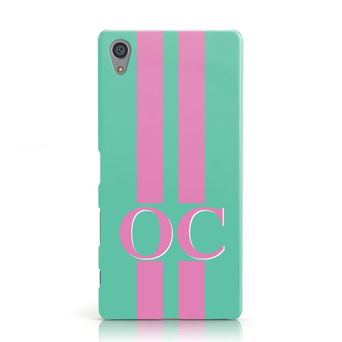 Green Personalised Initials Sony Xperia Case