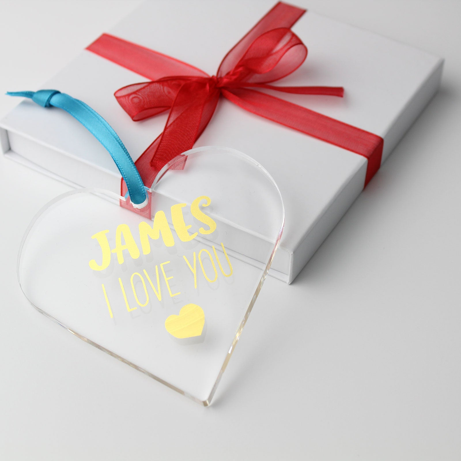 I Love You Foiled Heart with Gift Box Packaging