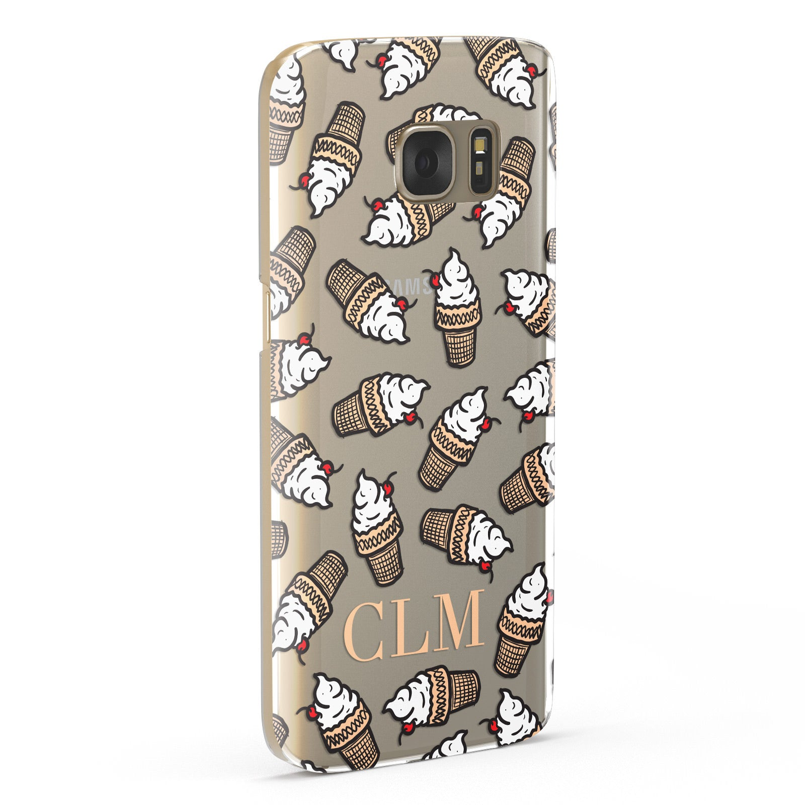Personalised Ice Cream Initials Samsung Galaxy Case Fourty Five Degrees