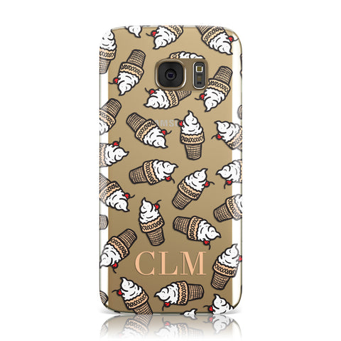 Personalised Ice Cream Initials Samsung Galaxy Case