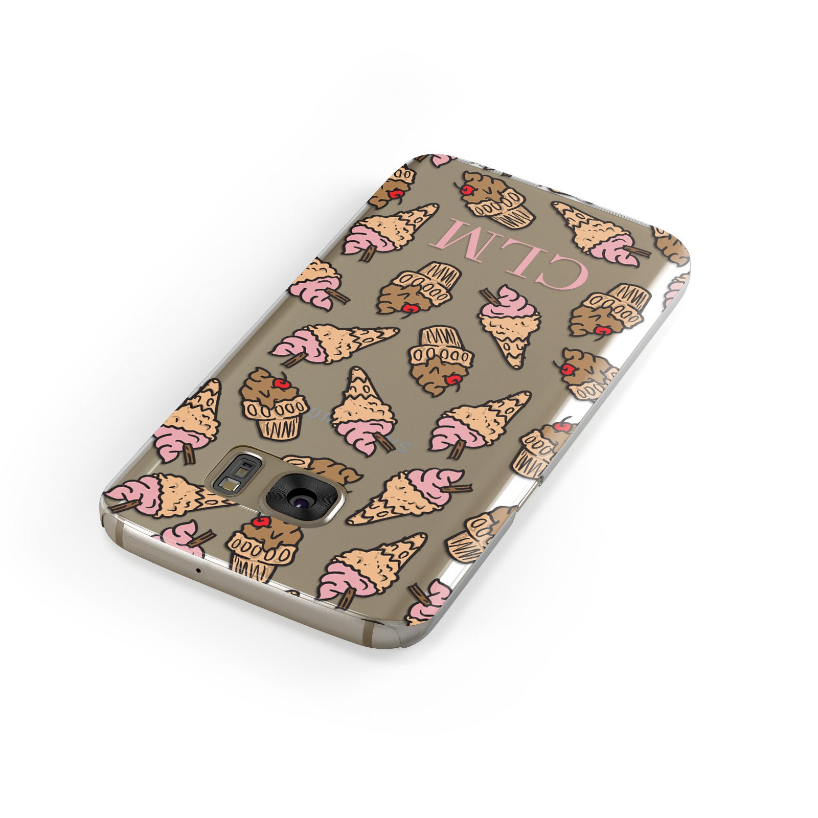 Personalised Ice Creams Initials Samsung Galaxy Case Front Close Up
