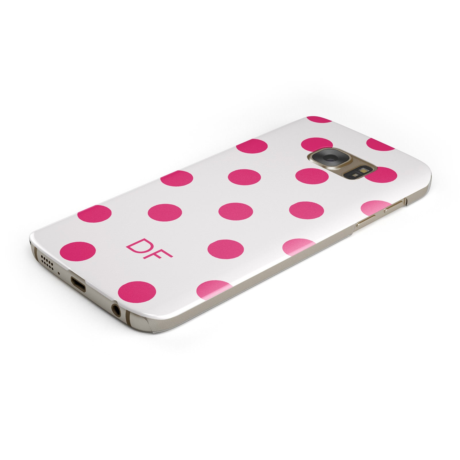 Initial Dots Personalised Samsung Galaxy Case Bottom Cutout