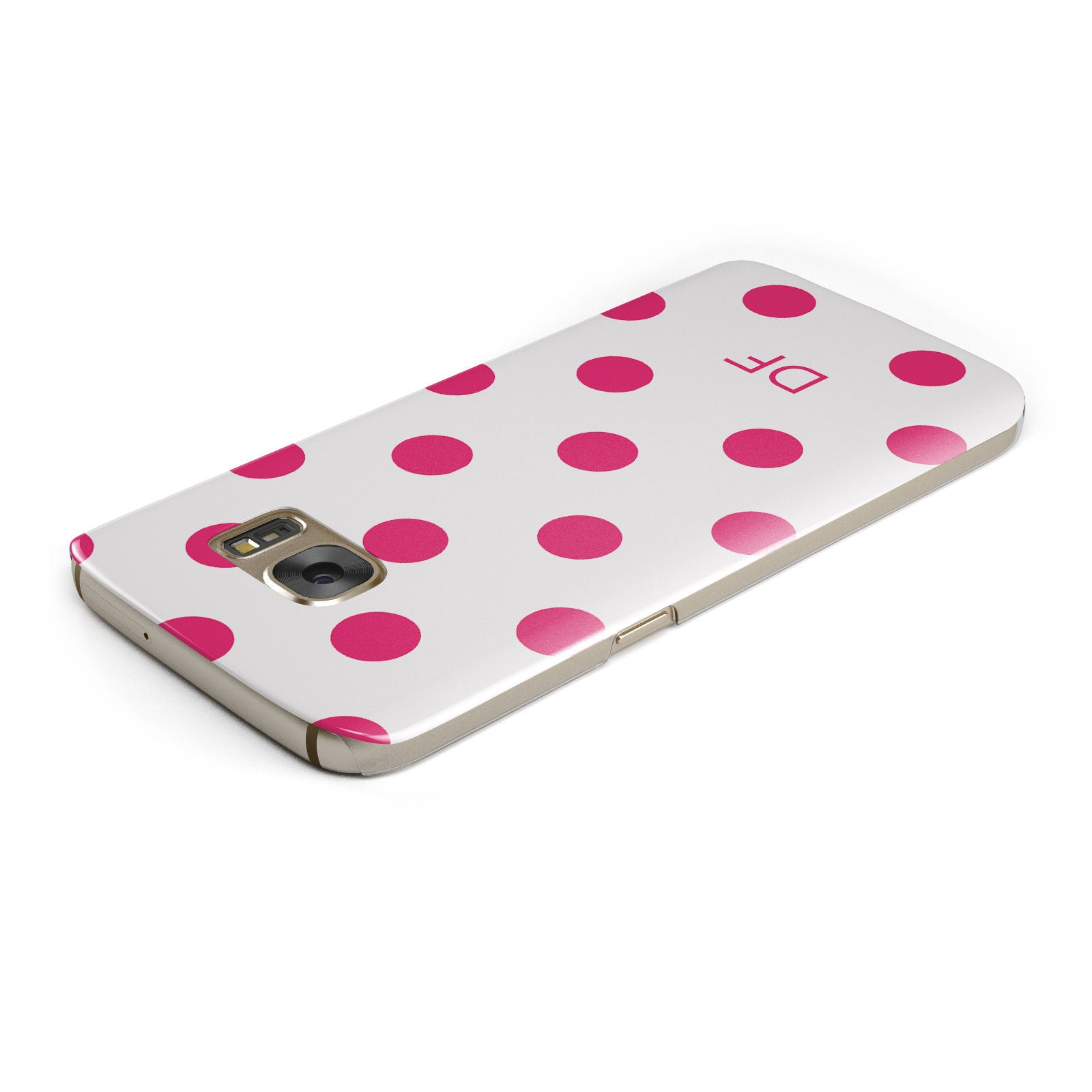 Initial Dots Personalised Samsung Galaxy Case Top Cutout