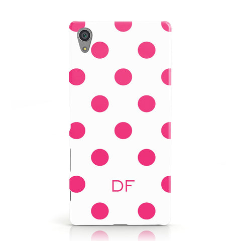 Initial Dots Personalised Sony Xperia Case