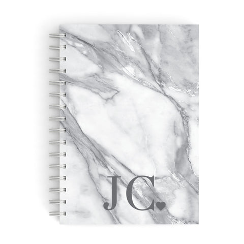 Initials & Love Heart A5 Hardcover Notebook