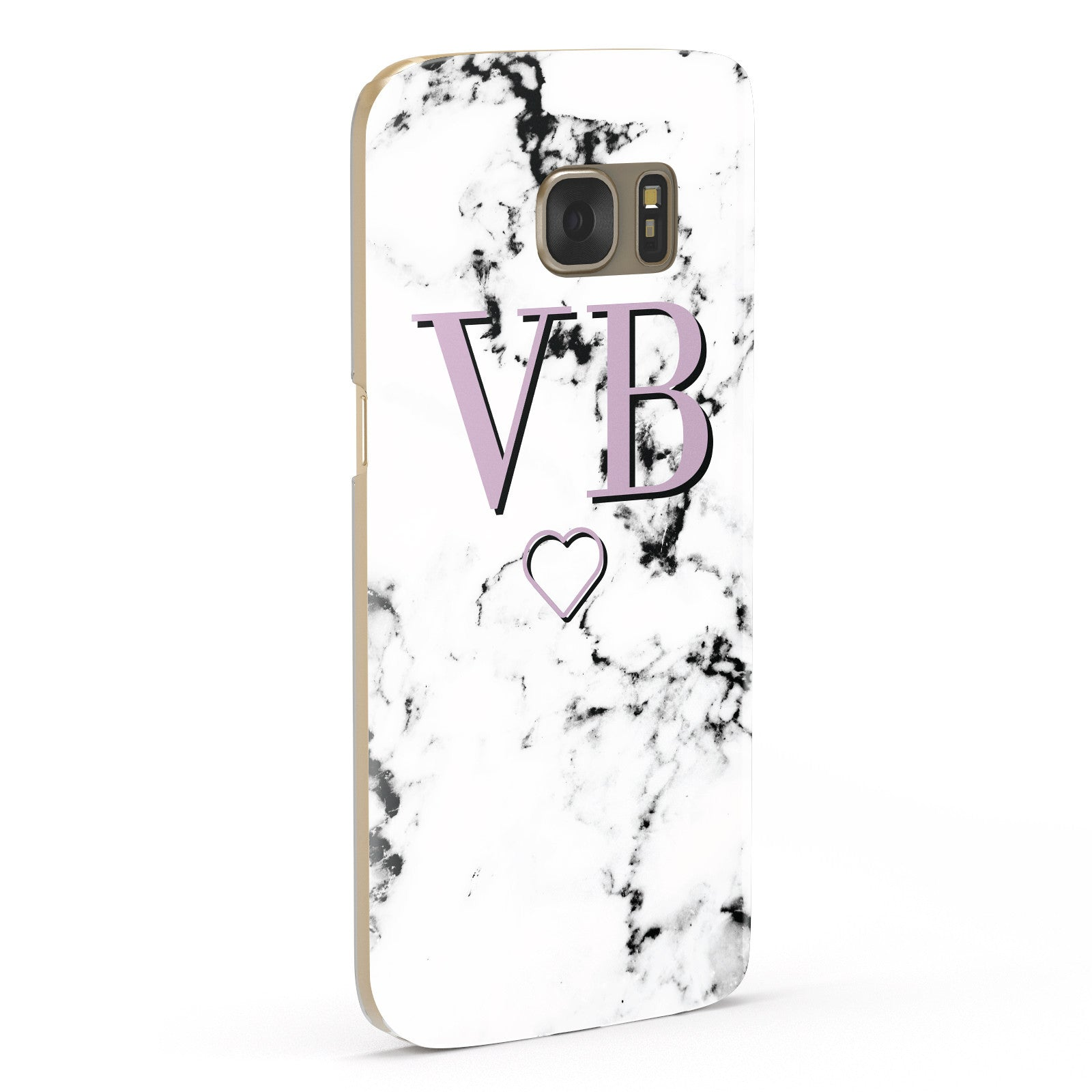 Personalised Initials Love Heart Marble Samsung Galaxy Case Fourty Five Degrees