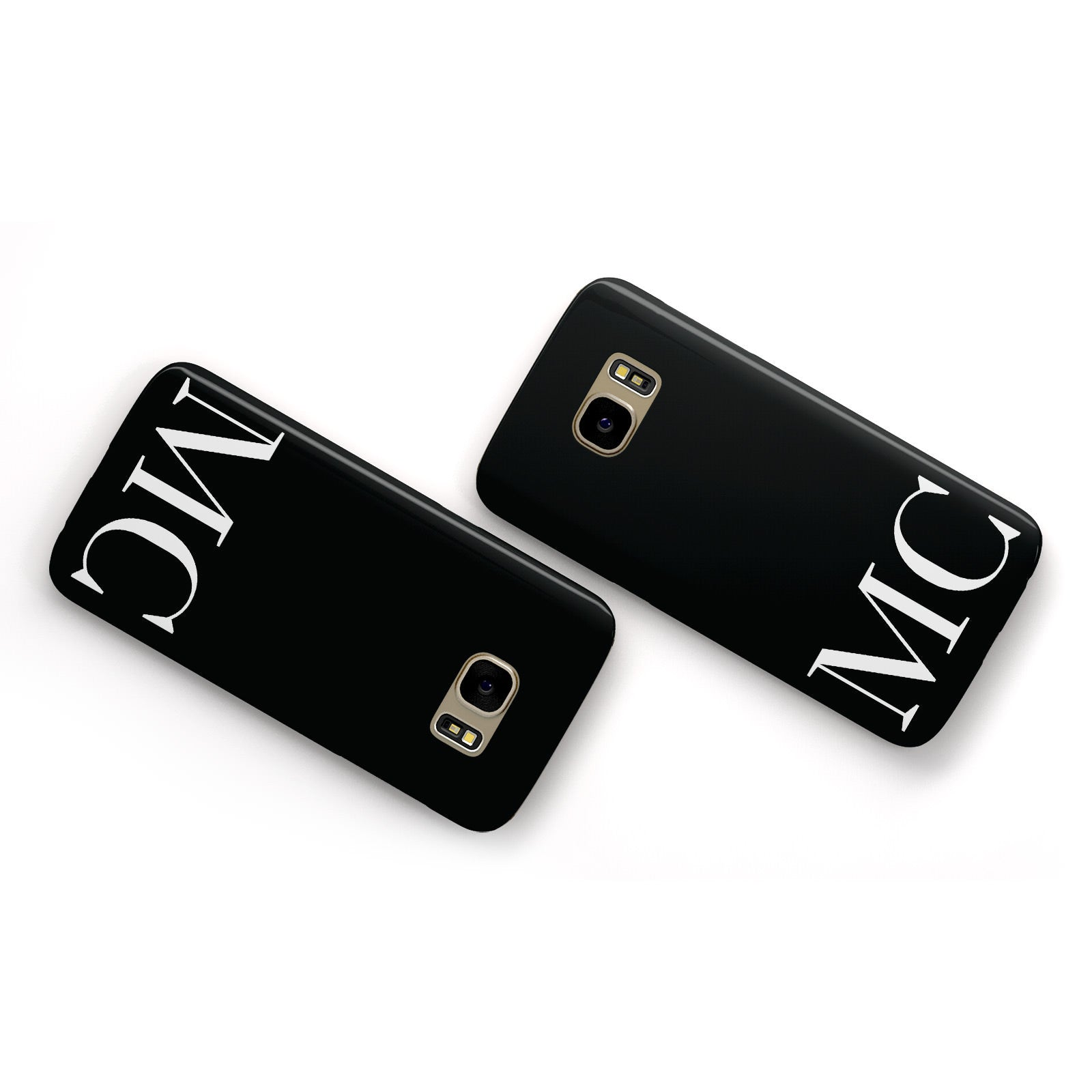 Initials Personalised 1 Samsung Galaxy Case Flat Overview