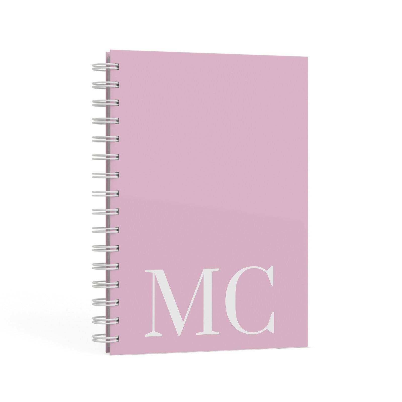 Initials Personalised 2 A5 Hardcover Notebook Second Side View