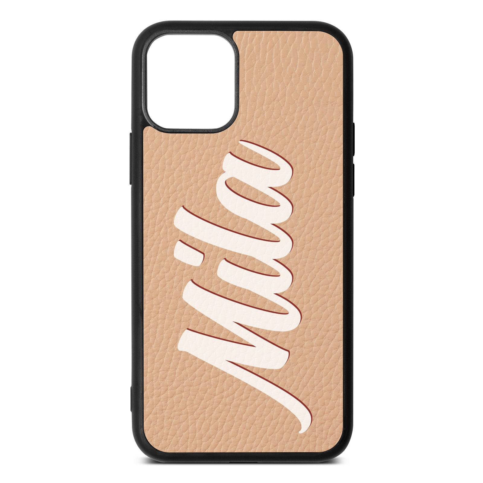 iPhone 11 Nude Pebble Leather Case