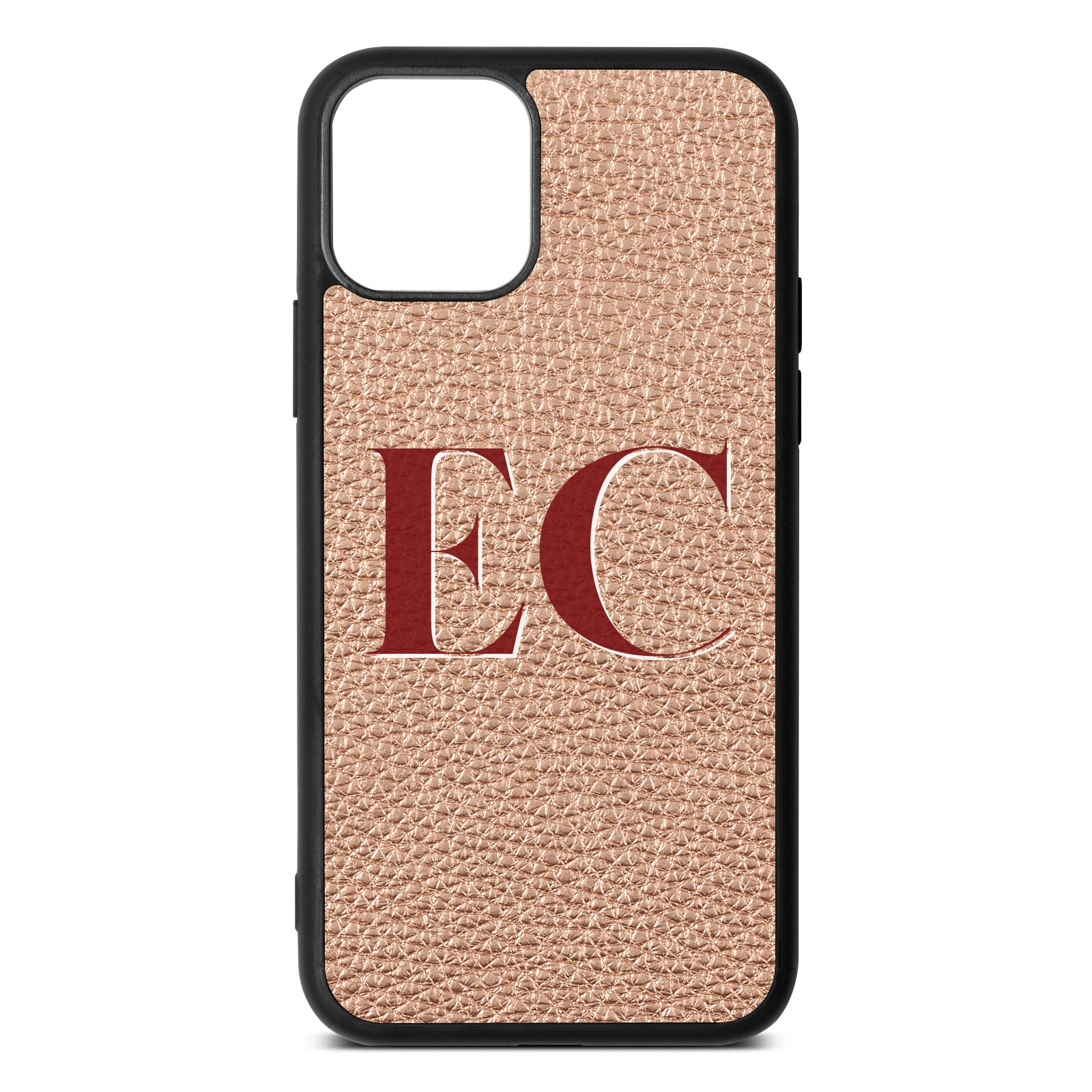 iPhone 11 Rose Gold Pebble Leather Case