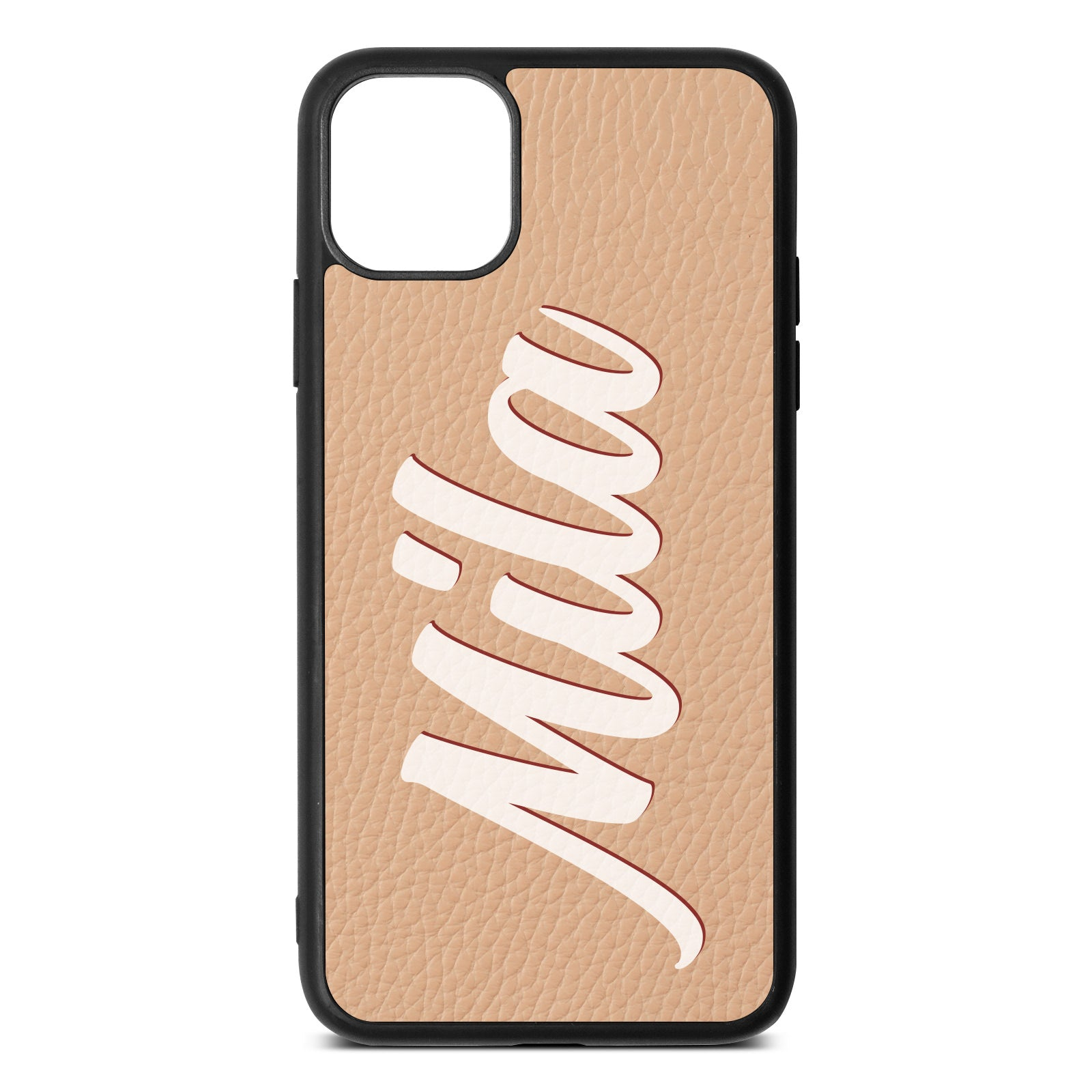 iPhone 11 Pro Max Nude Pebble Leather Case
