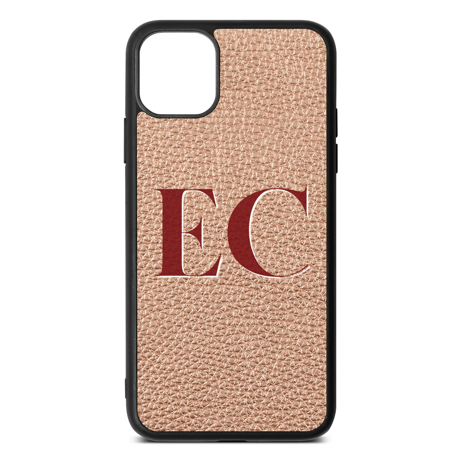 iPhone 11 Pro Max Rose Gold Pebble Leather Case
