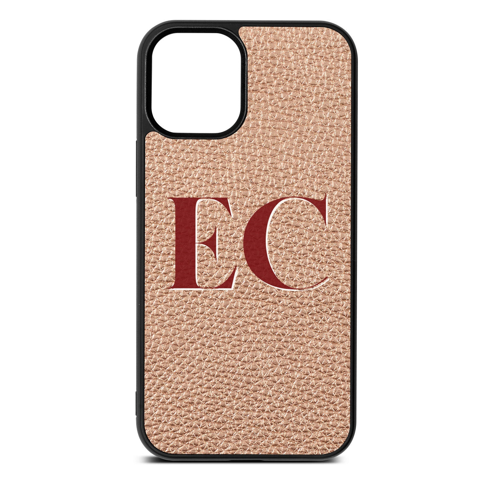 iPhone 12 Mini Rose Gold Pebble Leather Case