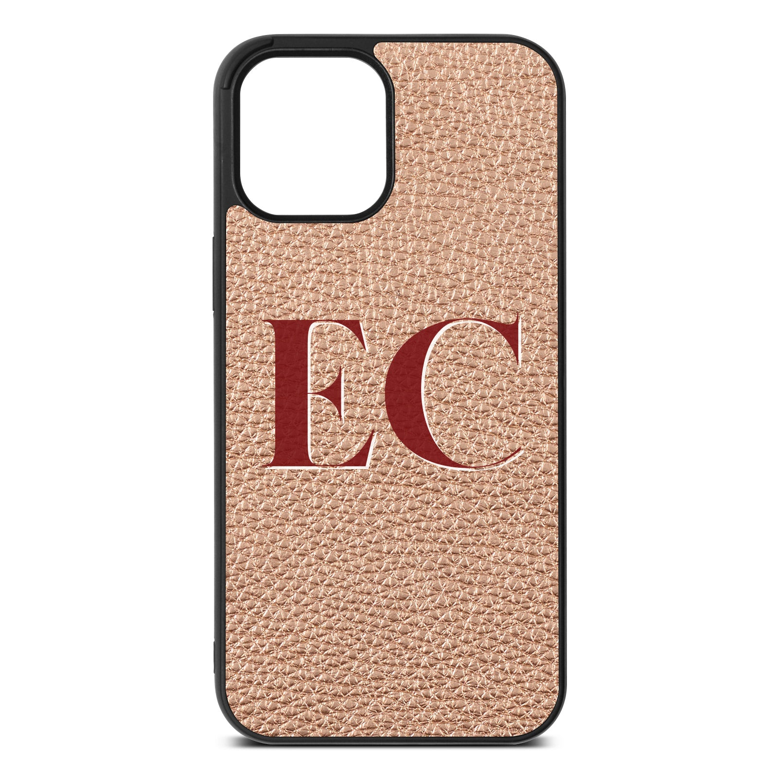 iPhone 12 Pro Max Rose Gold Pebble Leather Case