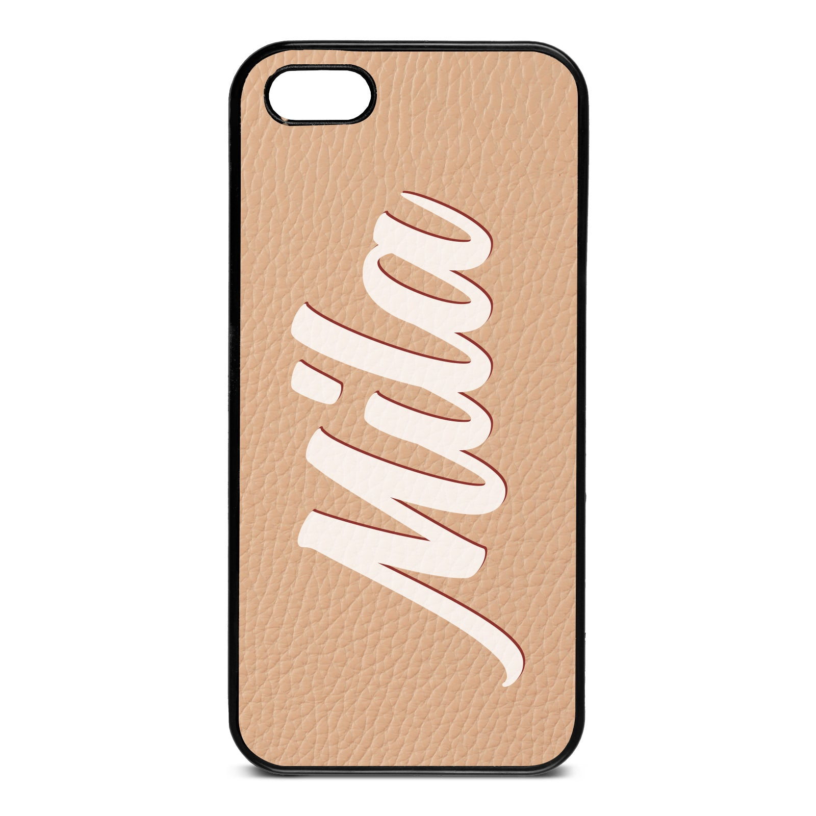 iPhone 5 Nude Pebble Leather Case